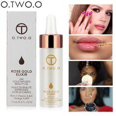 O.TWO.O Brand Primer Face Lips Make Up Moisturizer Easy to Absorb Gold 24K Rose Essential Oil Face Base Makeup Primer #Affiliate