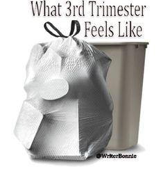 Image result for third trimester trash bag meme