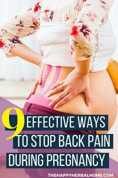 Stop pregnancy back pain in its tracks with these 9 essential tips!