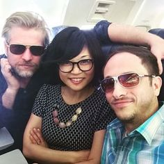 "Amongst so many other familiar faces was Hep Alien, the beloved Stars Hollow rock band comprised of Todd Lowe (Zach), Keiko Agena (Lane), and John Cabrera (Brian). | Hep Alien Performed The ""Gilmore Girls"" Theme Song And It Was Perfect"