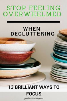 Stop feeling overwhelmed and get clutter free minimalism by following these awesome tips!