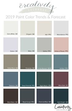 2019 Farbtrends und -prognosen - 2019 Paint Color Trends and Forecasts 2019 F. 2019 Farbtrends und -prognosen - 2019 Paint Color Trends and Forecasts 2019 Farbtrends und Farbvorhersage -