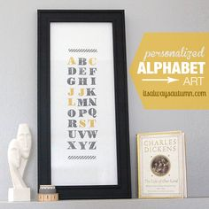 family initials alphabet art + a Stampin' Up! giveaway - itsalwaysautumn - it's always autumn Art Crafts, Home Crafts, Paper Crafts, Cool Diy Projects, Project Ideas, Card Ideas, Gift Ideas, Graphic Projects, Alphabet Art
