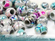 {100} Splatter Ab Acrylic Beads 8mm. Starting at $5 on Tophatter.com!