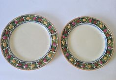 "Set of 2 Adams Titian Ware Della Robia 10"" Dinner Plates #Adams"