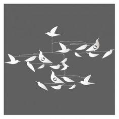 mobile esprit Calver  -oiseaux-blancs-katsumi-komagata-blanc 24 €!