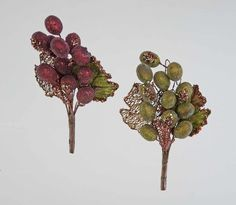 """Katherine's Collection Spice Traditions Christmas Collection Twelve Assort 6"""" Grape Bunch Clips Free Ship"""