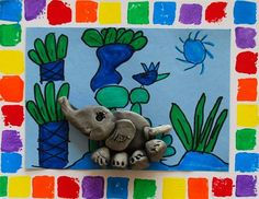 1st Grade-Elmer the Clay Elephant but with sculpts air dry clay?