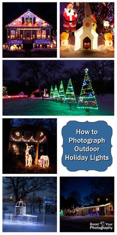 How to Photograph Outdoor Holiday Lights | Boost Your Photography