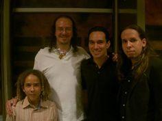 Con Delgadillo, Alex Manuel y Fernandito.