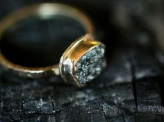 A ring with rough-hewn charm.