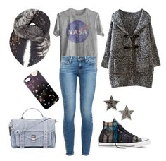 """Space Captain"" by kjmazeltov ❤ liked on Polyvore featuring Paige Denim, Converse, Proenza Schouler, EMMA J SHIPLEY, Nikki Strange and Dana Rebecca Designs"