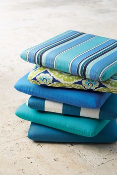 Update Your Patio Furniture For Spring With New Outdoor Cushions. Loving  These Blues. HomeDecorators