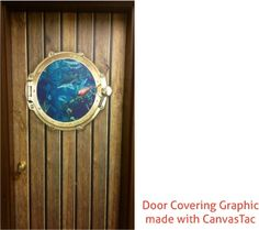 Door Covering Made with CanvasTac