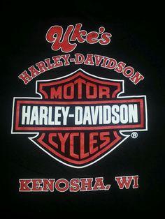 Harley Davidson Motorcycles Men's T-shirt L Black Kenosha WI Great Shape #HarleyDavidson #BasicTee