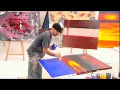 HOW TO PAINT ABSTRACT WALL ART Art lessons you dont have to know how...just do it