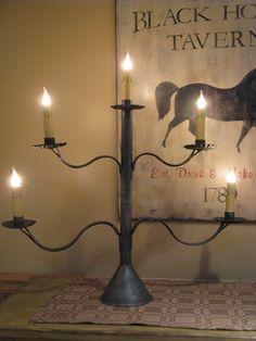 DIY primitive lamp