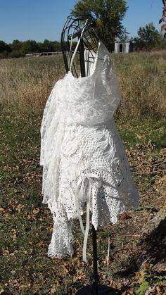 Gypsy Boho bohemian shabby chic top or dress by SummersBreeze, $68.00