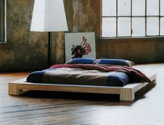 Cama doble tatami moderna de madera maciza - ISOLA - ArchiExpo