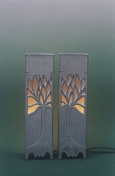 Ceramics by Ray Macro at Studiopottery.co.uk - Pair of Wall lights - Rectangular section. height 14 inches. Produced in 2003. Slab Ceramics, Porcelain Ceramics, Pottery Sculpture, Sculpture Art, Ceramic Lantern, Japanese Artwork, Into The Fire, Cement Crafts, Clay Vase