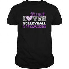 Cool Volleyball and Mascara Shirts & Tees