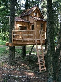 Treehouse Design Ideas That Are Nice Than Your House. From simple tree house plans for kids to the big ones for adult that you can live in. If you're looking for tree house design ideas. Treehouse Masters, Backyard Treehouse, Treehouse Ideas, Treehouses For Kids, Backyard Fort, Treehouse Cabins, Building A Treehouse, Backyard Retreat, Tree House Plans