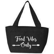 Food Vibes Only Insulated Lunch Bag (Black) Insulated Lunch Bags, Reusable Tote Bags, Back To School, Black, Food, Black People, Essen, Meals, Entering School