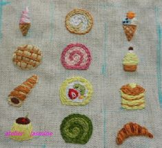 Dessert embroidery