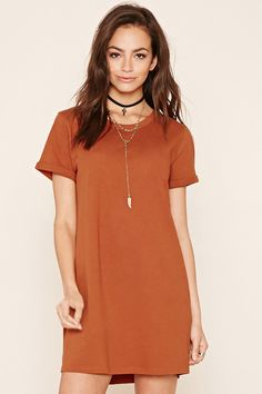 Cuffed T-Shirt Dress