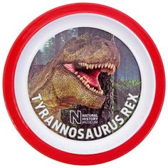Buy this Museum T. rex melamine plate - from the Natural History Museum online shop