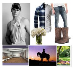 """""""First Date"""" by dying-slowly ❤ liked on Polyvore featuring LE3NO, William Rast, Ariat, men's fashion and menswear"""