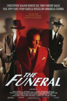 The Funeral (USA. 1996) Director: Abel Ferrara. Christopher Walken; Isabella Rosellini; Chris Penn; Benicio del Toro; Vincent Gallo; Paul Hipp; Annabela Sciorria.