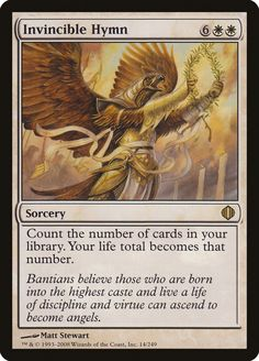Last Printing: ALA, Sorcery, Count the number of cards in your library. Your life total becomes that number. Magic The Gathering Cards, Magic Cards, Wizards Of The Coast, Mtg, Game Art, Count, Angels, Number, Live