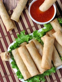 Lumpia (Filipino Spring Rolls) is an easy and delicious appetizer for dinner parties or just a snack. ♥ Yummy Addiction