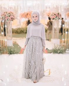 Image may contain: 1 person, standing Dress Brokat Muslim, Dress Pesta, Kebaya Muslim, Muslim Dress, Muslimah Wedding Dress, Muslim Wedding Dresses, Designer Wedding Dresses, Bridesmaid Dresses, Hijab Evening Dress