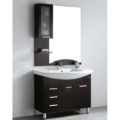 Design Element Serria Contemporary Bathroom Vanity w/ Side Cabinet Set - Overstock™ Shopping - Great Deals on Design Element Bathroom Vanities $1056