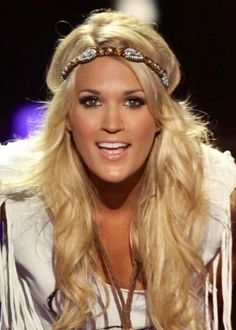 Carrie Underwood in Pink Pewter! Turbans, Hair Styles 2014, Curly Hair Styles, Headband Hairstyles, Cute Hairstyles, Hairstyle Short, Carrie Underwood Cma, Forehead Headband, How To Wear Headbands