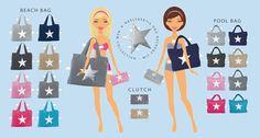 BYRH Strandtaschen -  Kollektion 2016 - Beach Bag, Pool Bag, Clutch