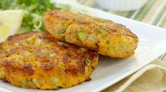 Galettes de saumon aux patates douces