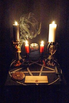Samhain Altar A by EnlightenedOfLucifer.deviantart.com on @deviantART