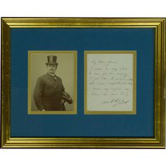 This photograph of Polish tenor Jean de Reszke, framed with a handwritten signed message, is one of the opera collectibles on hand at the Met Opera Shop. Reszke appeared regularly at the Metropolitan Opera in the 1890s in roles including Roméo, Faust, Lohengrin, Tristan, and Siegfried. http://www.metoperashop.org/shop/jean-de-reszke-photograph-and-signed-letter-11677