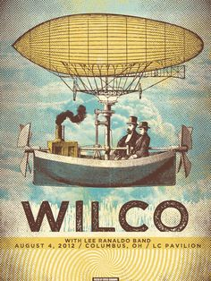 Wilco. #gigposters #musicart #concerts http://www.pinterest.com/TheHitman14/music-poster-art-%2B/