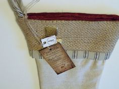 Upcycled Coffee Sack Christmas Stocking
