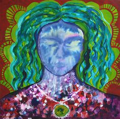 ''Mother'' 2014, acrylic & ekoline on canvas / 70 × 70