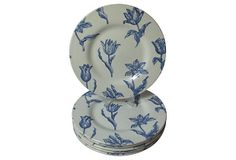 English Spring Tulips Lunch Plates, S/6 on OneKingsLane.com