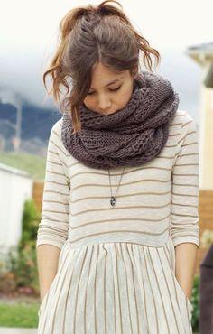 #street #style / knit scarf