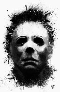 Michael Myers from Halloween Art.
