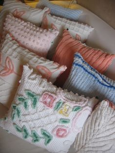 Antique chenille is our weakness at Echoesintheattic.com