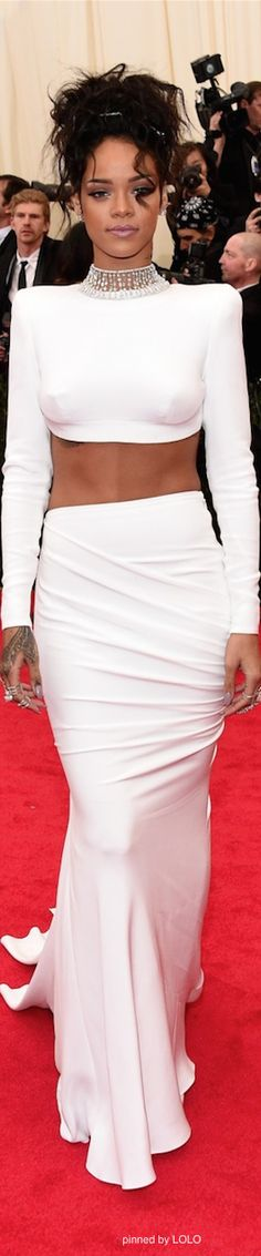 Rihanna 2014 Met Gala Red Carpet