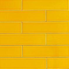 Lemoncello Yellow Subway Ceramic Tile   Modwalls Designer Modern ...